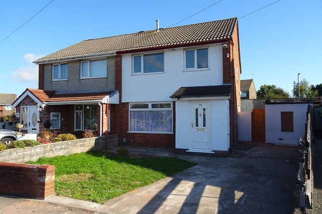 Thumbnail Semi-detached house for sale in Vincent Close, Barry, The Vale Of Glamorgan.