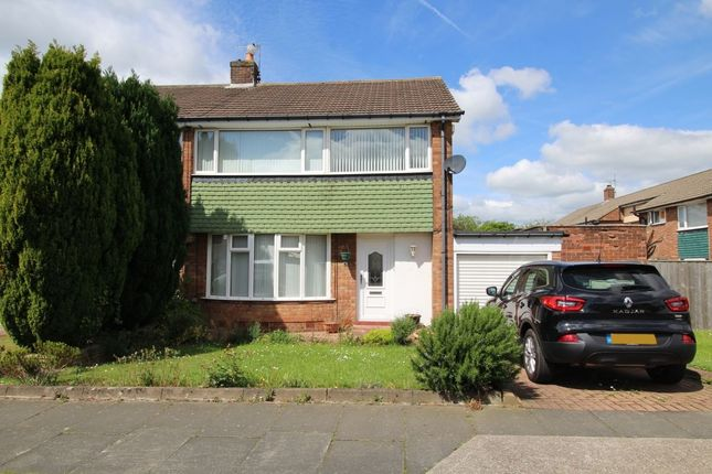 Thumbnail Semi-detached house for sale in Aisgill Drive, Chapel House, Newcastle Upon Tyne