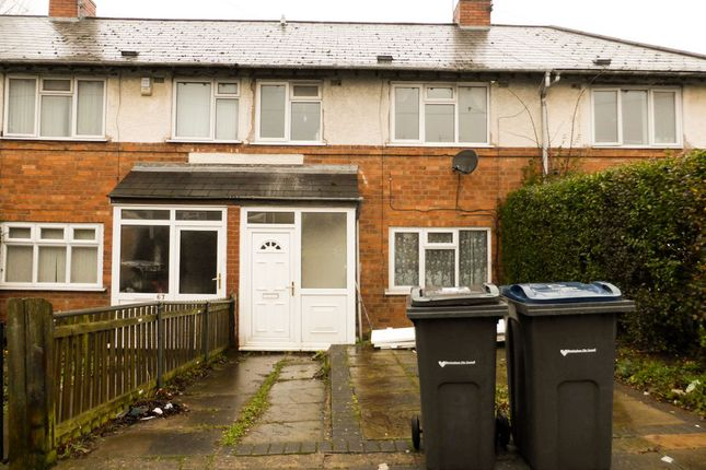 Thumbnail Terraced house to rent in Holcombe Road, Tyseley, Birmingham