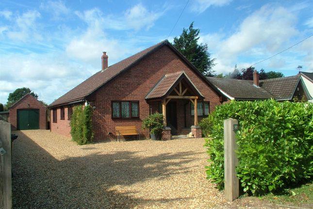 Thumbnail Detached bungalow for sale in Station Road, Aslacton, Norwich