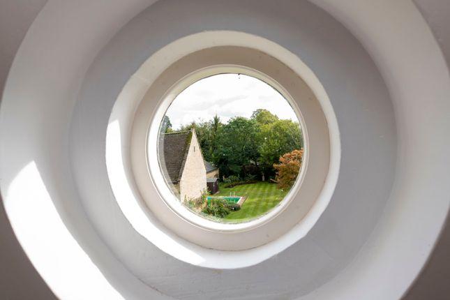 Porthole Window With Garden View