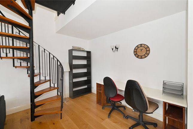 Staircase of Quay View Apartments, Arden Crescent, London E14