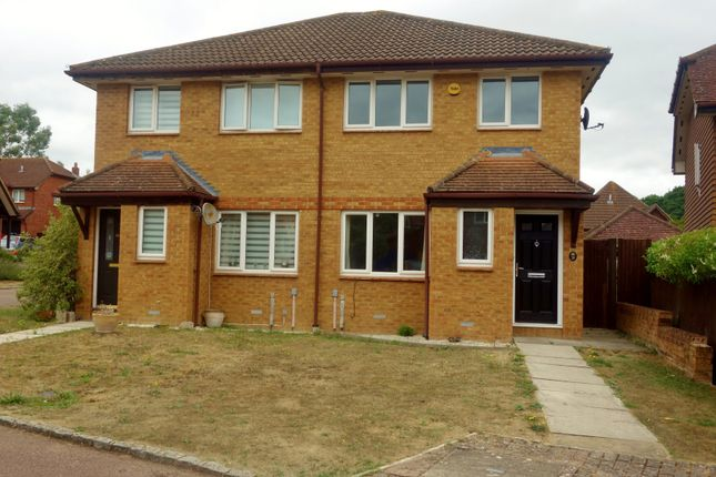 Thumbnail Semi-detached house to rent in Hubbard Close, Twyford, Reading