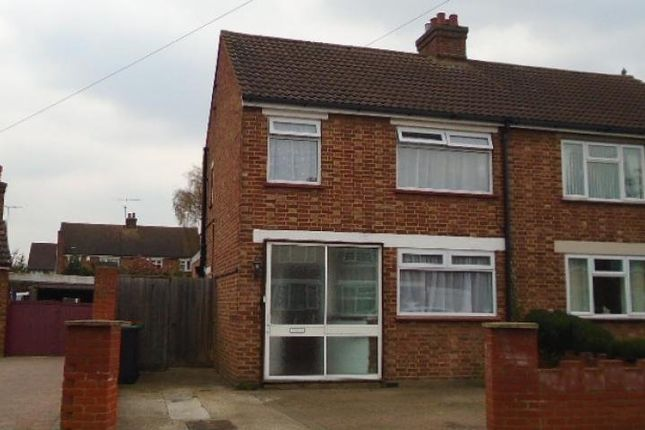 Thumbnail Semi-detached house to rent in Addison Close, Kempston, Bedford