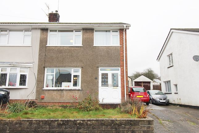 Thumbnail Semi-detached house for sale in Brookdale Court, Church Village, Pontypridd
