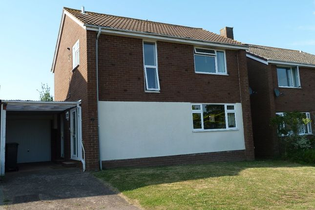 Thumbnail Detached house to rent in Walls Close, Exmouth