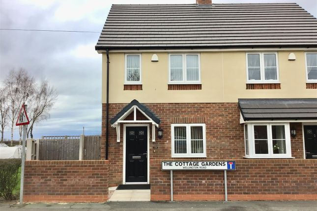 Thumbnail Semi-detached house for sale in Wellington Road, Muxton, Telford