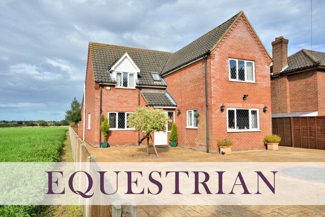Thumbnail Detached house for sale in Dereham Road, Thuxton, Norwich