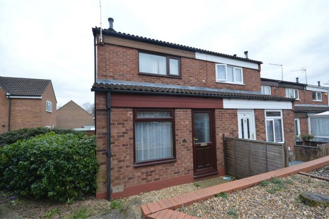 Thumbnail End terrace house for sale in Rosebay Close, Catton, Norwich
