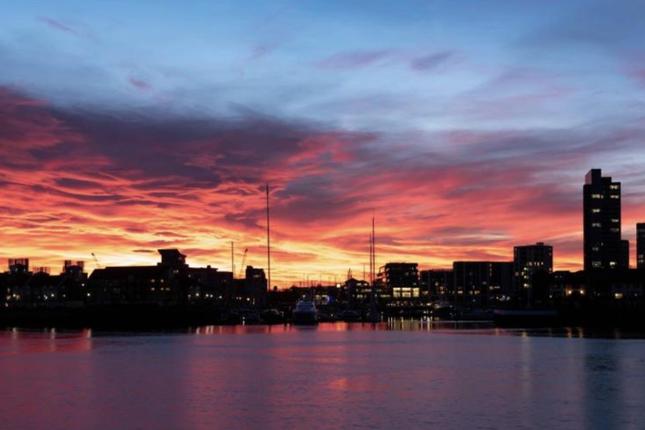 Sunset of Centenary Plaza, Southampton SO19