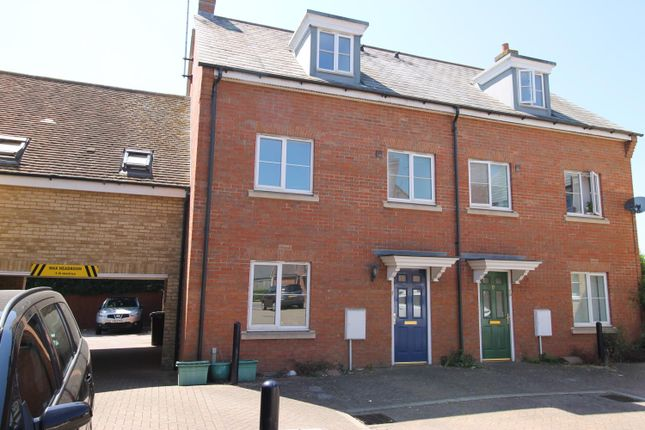 Thumbnail Town house to rent in Hutley Drive, Colchester, Essex