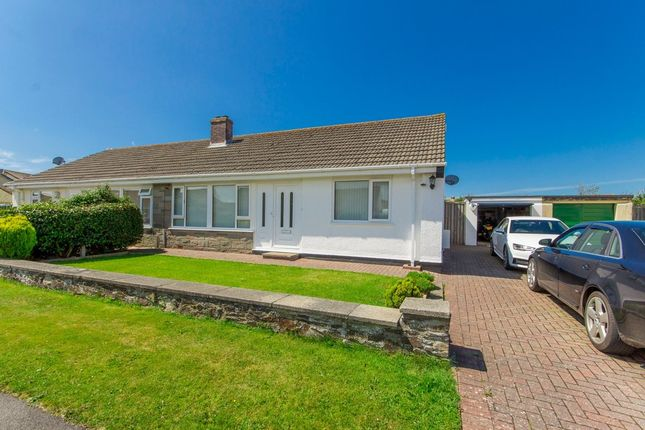 Thumbnail Semi-detached bungalow for sale in Carlyon Close, Threemilestone, Truro