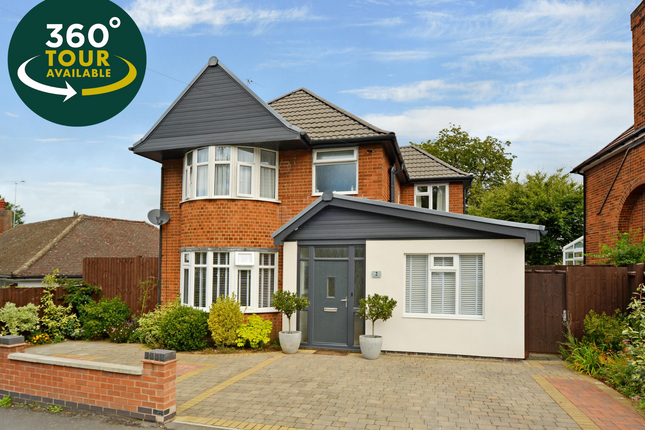 Thumbnail Detached house for sale in Highfield Drive, Wigston, Leicester