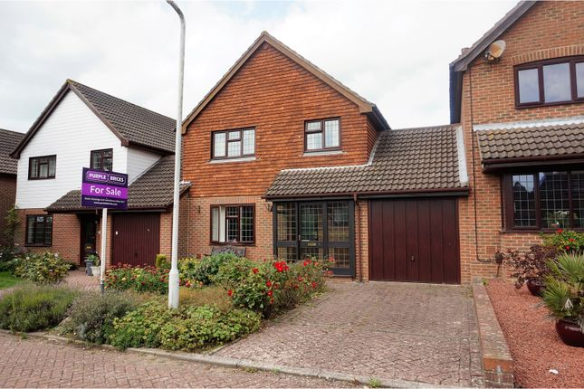 Thumbnail Link-detached house for sale in Milestone Close, Folkestone