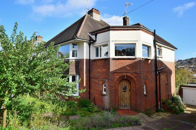 Thumbnail Semi-detached house for sale in Overhill Drive, Brighton, East Sussex