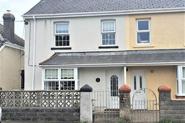 Thumbnail Semi-detached house for sale in Heol Fach, North Cornelly, Bridgend, Mid Glamorgan