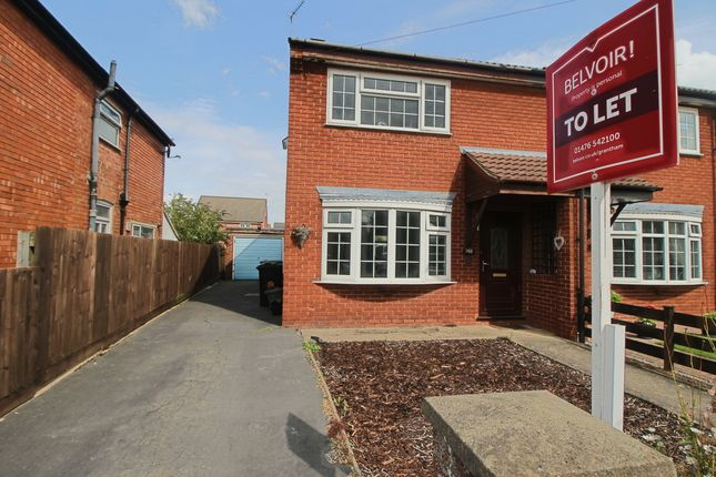 Thumbnail Semi-detached house to rent in Huntingtower Road, Grantham