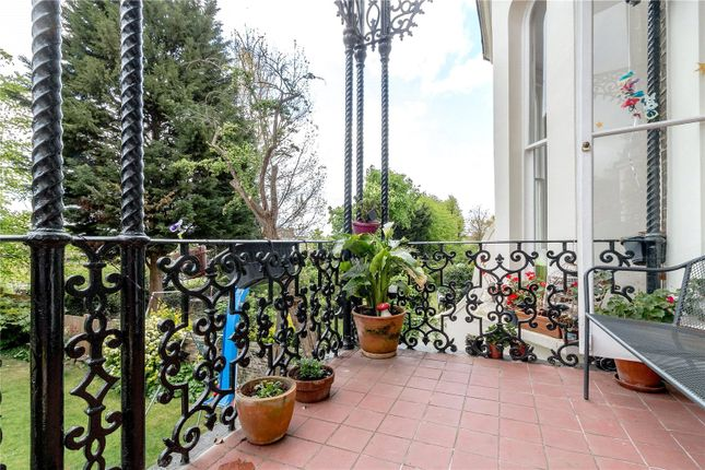 Balcony of Pemberton Gardens, London N19
