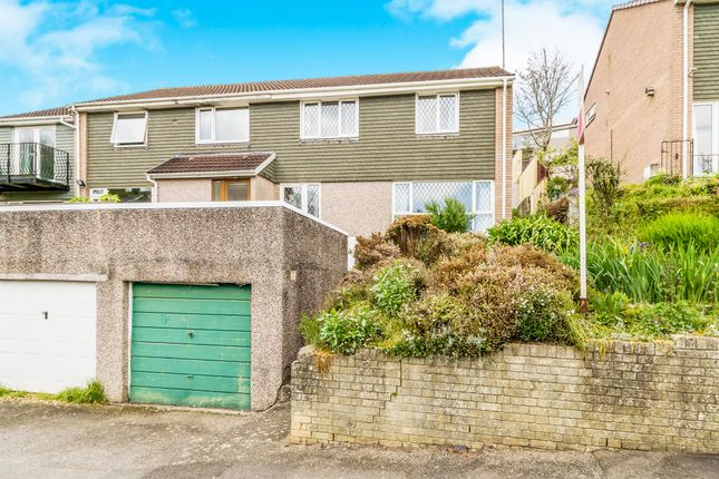 Thumbnail Semi-detached house for sale in Coombe Road, Saltash