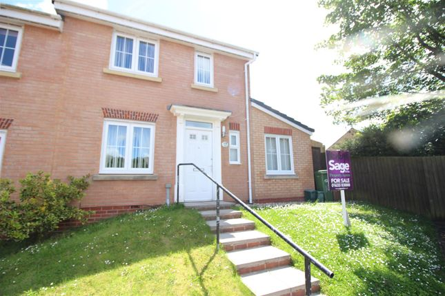 Thumbnail Semi-detached house for sale in Woodside Drive, Newbridge, Newport