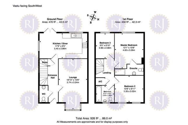Floorplan of Masham Way, Whitehouse Farm, Milton Keynes MK8