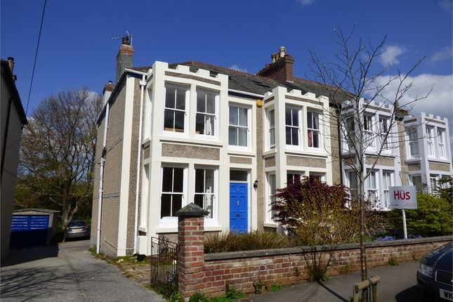 Thumbnail Semi-detached house for sale in Carvoza Road, Truro