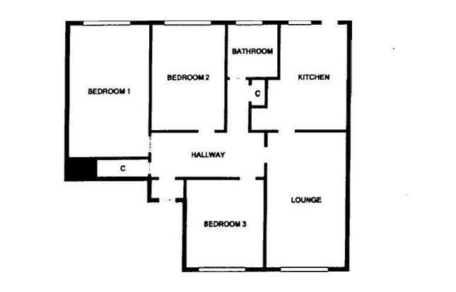Floor Plan of Zena Street, Barmulloch, Lanarkshire G33