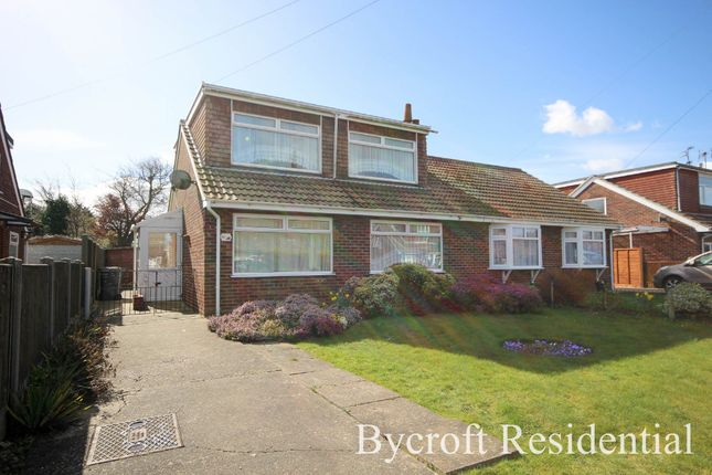 Thumbnail Semi-detached house for sale in Heather Avenue, Scratby, Great Yarmouth