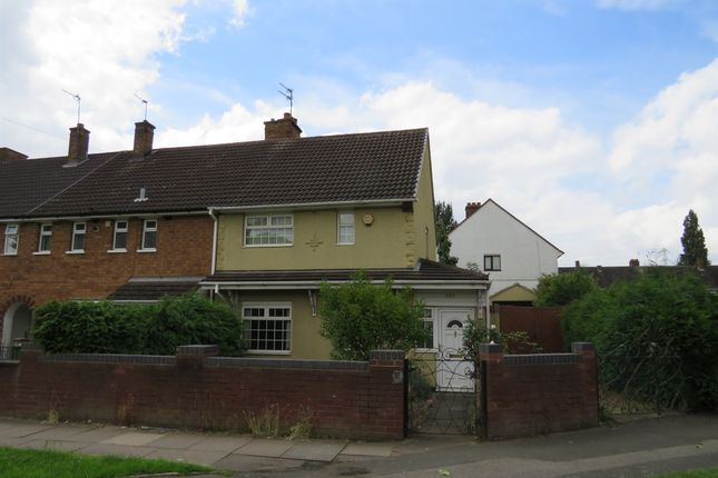 Thumbnail End terrace house for sale in Stephenson Avenue, Walsall