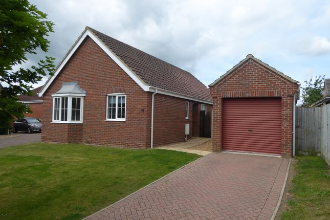 Thumbnail Detached bungalow to rent in John Lawrence Close, Beccles