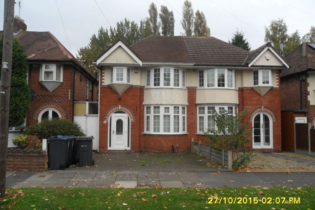 Thumbnail Semi-detached house to rent in Glendower Road, Perry Barr, Birmingham