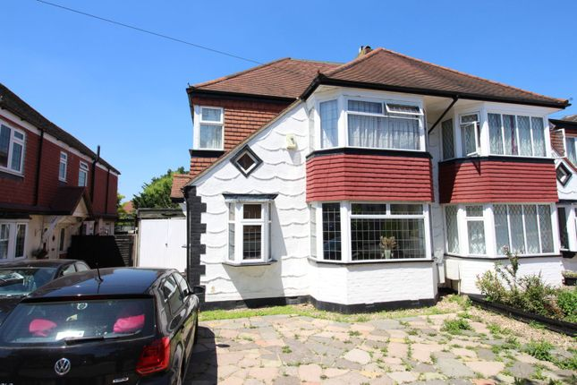 Thumbnail Semi-detached house for sale in Gayfere Road, Stoneleigh, Epsom