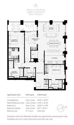 Floorplan of Belvedere Gardens, Southbank Place, Belvedere Road, London SE1
