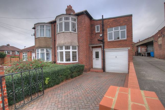Thumbnail Semi-detached house for sale in Broadwood Road, Newcastle Upon Tyne