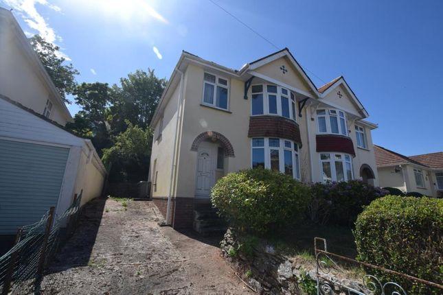 Thumbnail Semi-detached house for sale in Shorton Valley Road, Paignton, Devon