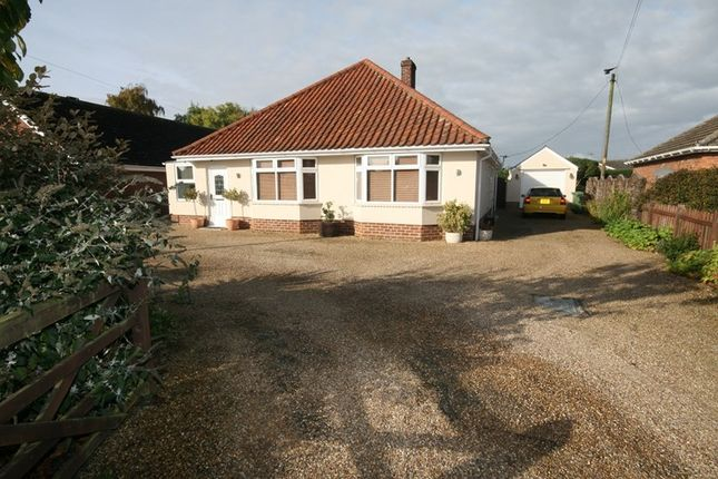Thumbnail Detached bungalow for sale in Hargham Road, Attleborough