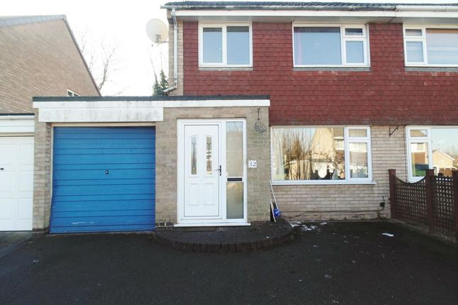 Thumbnail Semi-detached house to rent in Wembley Gardens, Bramcote, Nottingham