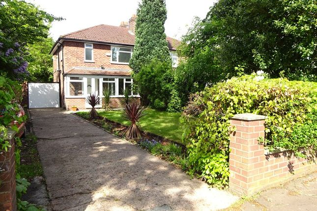 Semi-detached house for sale in Withington Road, Whalley Range, Manchester.