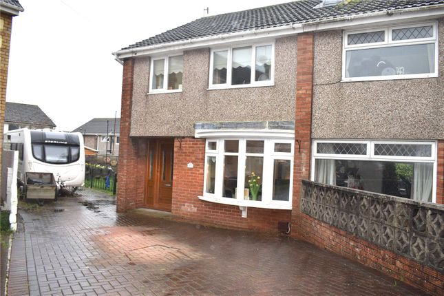 Thumbnail Semi-detached house for sale in Pen Y Ffordd, North Cornelly, Bridgend