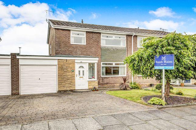 Thumbnail Semi-detached house for sale in Gainsborough Place, Cramlington