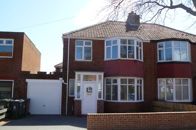 Thumbnail Semi-detached house to rent in Langley Avenue, Whitley Bay