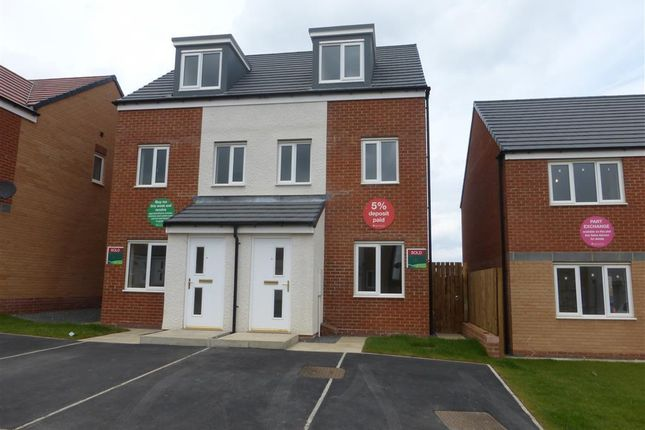 Thumbnail Semi-detached house to rent in Celandine Gardens, Hartlepool