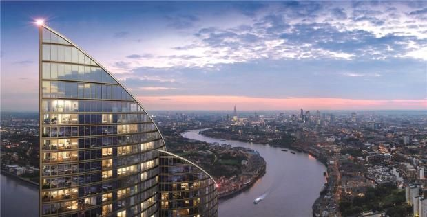 Thumbnail Flat for sale in Spire London, Herstmere Road