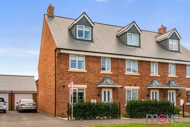 Thumbnail End terrace house for sale in Vale Road, Bishops Cleeve, Cheltenham