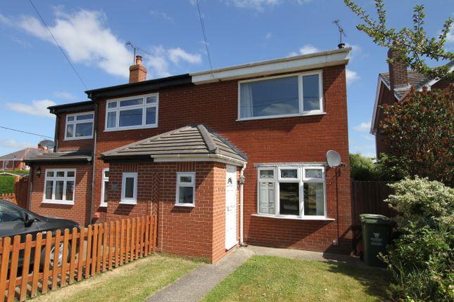 Thumbnail Semi-detached house to rent in Harwoods Lane, Rossett, Wrexham