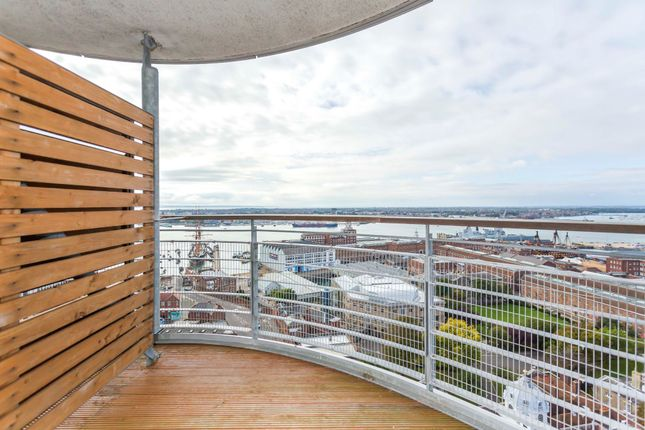 Thumbnail Flat to rent in Admiralty Tower, Queens Street, Portsmouth