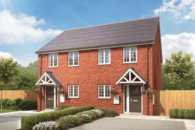 "Thumbnail Semi-detached house for sale in ""The Hallaton"" at Loughborough Road, Rothley, Leicester"
