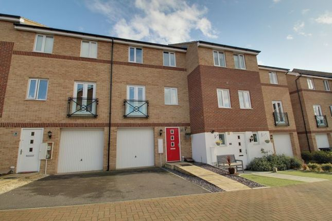 Thumbnail 3 bed town house for sale in Teasel Way, Hampton, Peterborough