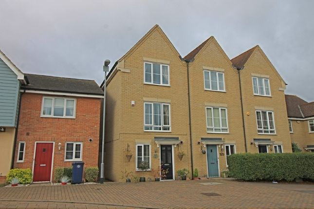 Thumbnail Town house for sale in Stokes Drive, Godmanchester