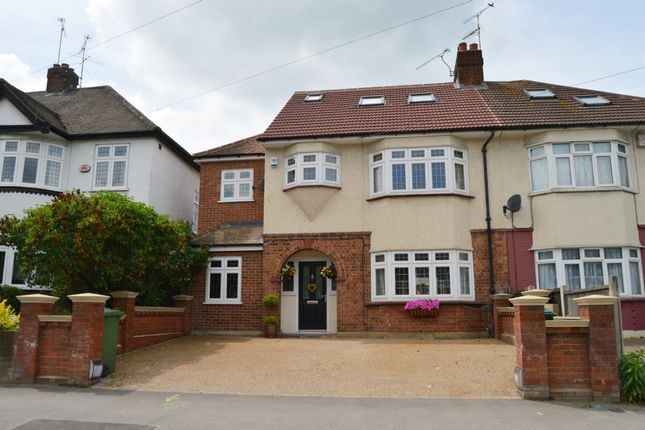 Thumbnail Semi-detached house for sale in Hospital Crescent, Gubbins Lane, Harold Wood, Romford